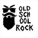 守旧派摇滚的独特的手拉的字法 库存照片