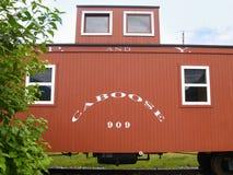 守车第909停放的Sakgway,阿拉斯加 免版税库存图片