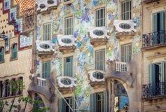 安东尼建立的住处Batlo室外看法Gaudi 免版税图库摄影