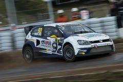 安东MARKLUND 巴塞罗那FIA世界Rallycross 免版税库存照片