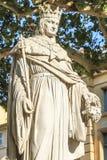 安久,艾克斯普罗旺斯的Rene国王雕象  免版税库存图片