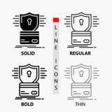 安全、信用卡,卡片,乱砍,文丐象在稀薄,规则,大胆的线和纵的沟纹样式 r 库存例证