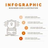 安全、信用卡,卡片,乱砍,文丐Infographics模板网站的和介绍 r 向量例证