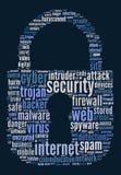 安全互联网文本概念 库存照片