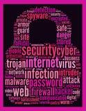 安全互联网文本概念 库存图片