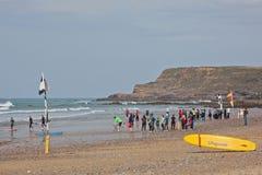 安全冲浪的教训 库存图片