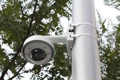 安全凸轮在一个公园 库存图片