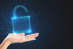 安全和密码概念 库存照片