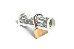 安全和投资的金钱 免版税库存图片
