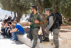 安全在耶路撒冷 库存照片