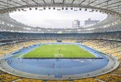 安全委员会奥林匹克体育场(安全委员会Olimpiyskyi)在Kyiv,乌克兰 免版税库存图片