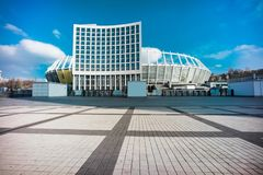 安全委员会Olympiyskiy HDR照片,situaded在基辅 免版税库存图片