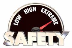 安全安全词测量仪措施最大值保护 免版税库存照片