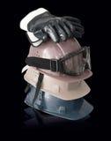 安全帽、手套和风镜: 编译概念 免版税库存图片