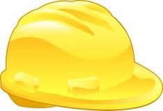 安全帽例证发光的黄色 免版税库存照片