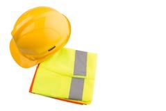 安全帽和反射性背心IV 免版税库存图片