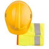 安全帽和反射性背心VI 免版税库存图片