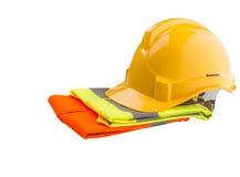 安全帽和反射性背心VII 库存图片