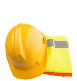 安全帽和反射性背心VIII 免版税库存照片