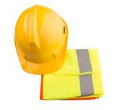安全帽和反射性背心XI 免版税库存照片