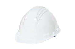 安全帽白色 免版税库存照片
