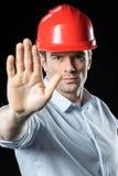 安全帽的男性工程师 图库摄影