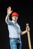 安全帽的男性工程师 库存照片