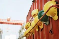 安全帽盔甲安全建筑师计划建筑概念 库存图片
