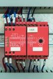 安全性继电器 免版税图库摄影