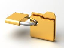 安全文件夹的计算机象 免版税库存图片