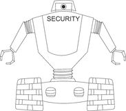 安全机器人 向量例证