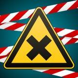 安全标志 小心-危险有害对健康过敏刺激性物质 库存图片