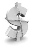 安全概念的货币 免版税库存照片