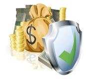 安全概念的货币 免版税图库摄影
