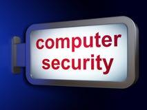 安全概念:在广告牌背景的计算机安全 免版税库存图片