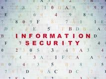 安全概念:在数字式信息保障 图库摄影
