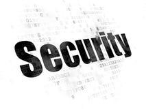 安全概念:在数字式背景的安全 免版税库存照片