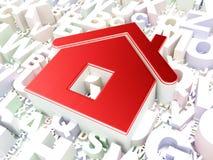 安全概念:字母表背景的家 免版税库存图片