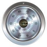 安全的号码锁 库存例证