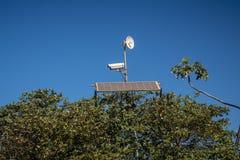 安全的太阳能盘区 免版税库存照片