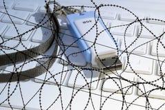 安全的数据 免版税图库摄影