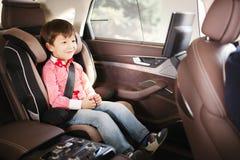安全的豪华微型汽车位子 免版税库存照片