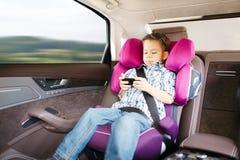 安全的豪华微型汽车位子 免版税库存图片