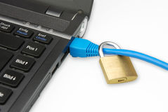 安全的连接数 库存照片