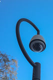 安全监控相机在城市 库存照片