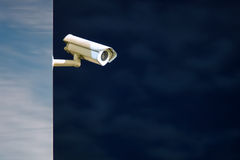 安全监控相机夜射击 库存图片