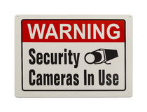 安全监控相机标志 免版税库存图片