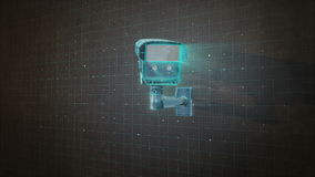 安全监控相机概念监视,住家安全iot技术2