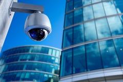 安全监控相机,在营业所大厦的CCTV 库存照片