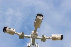 安全监控相机 库存照片